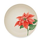Colorwave Cream 9-Inch Accent Plate with Poinsettia