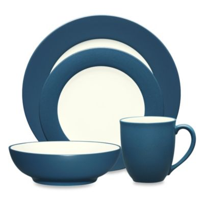 Noritake® Colorwave Blue Rim 4-Piece Place Setting