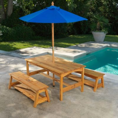 KidKraft® Table & Benches with Blue Umbrella