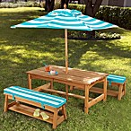 KidKraft® Under the Sun Table & Bench Set with Umbrella