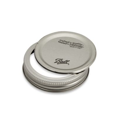 Kerr® Regular-Mouth Jar Lids with Bands (Set of 12)