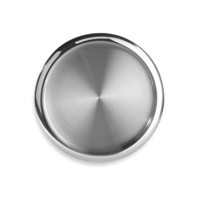 Stainless Steel Two-Tone Round Serving Tray