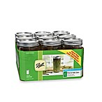 Ball Wide-Mouth 1.5-Pint Mason Jars with Lids and Bands (Set of 9)