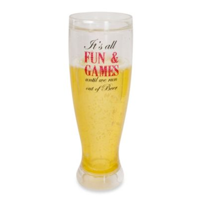 Frosty Fun and Games 14-Ounce Pilsner