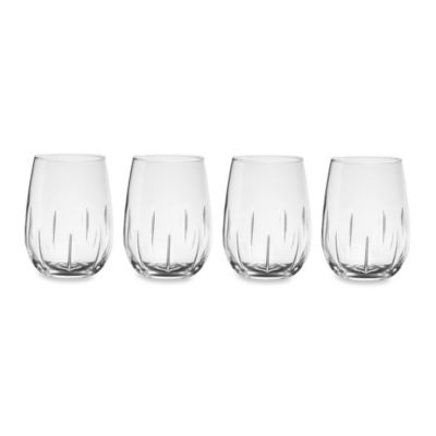 Stemless Swirl Red Wine Glasses