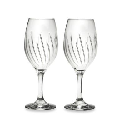 Amici 9 7/8-Ounce Elegant Aerating Wine Goblets (Set of 2)