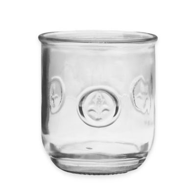Fleur De Lis 11-Ounce Glass