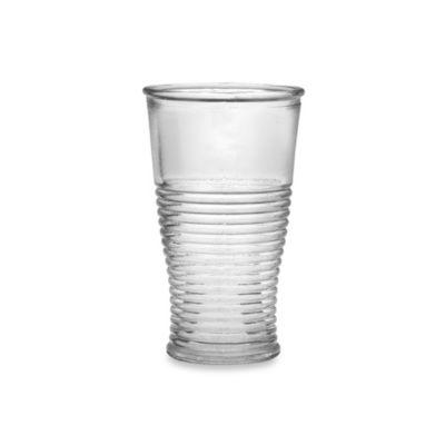 Amici Club 10.5-Ounce Ribbed Highball Glass