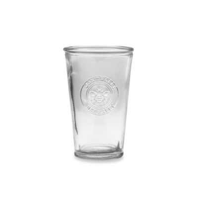 Bee Happy 8-Ounce Glass