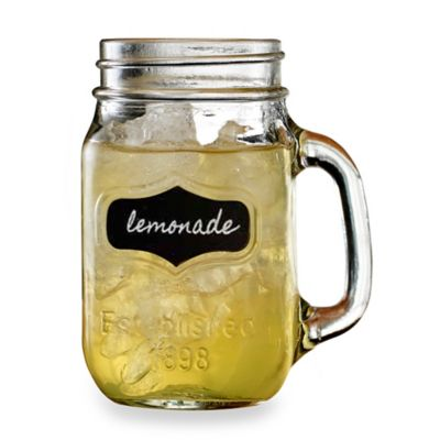 17.5-Ounce Chalkboard Mason Jar Mugs (Set of 4)
