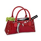 Primeware Croc Wine Clutch in Red