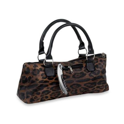 Insulated Wine Purse in Leopard Print