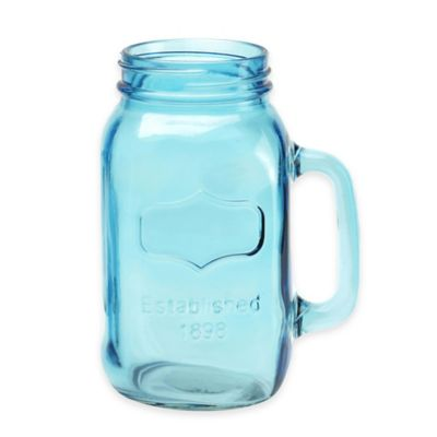 Yorkshire 38-Ounce Mason Drinking Jars (Set of 2) in Vintage Blue