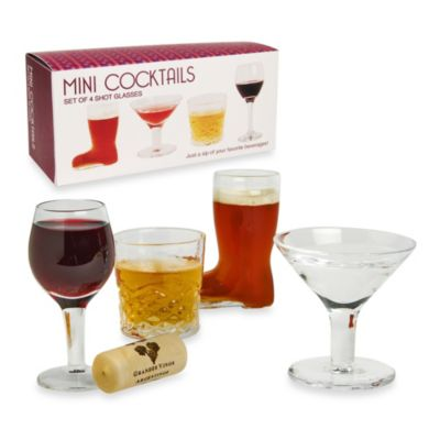 Mini Cocktail Shot Glasses (Set of 4)