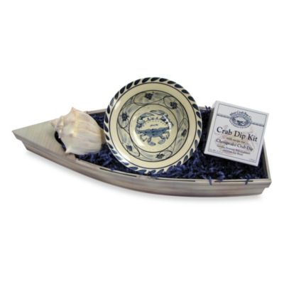 Crab Dip Kit and Blue Crab Stoneware Bowl Gift Set