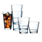 Dailyware 16-Piece Stack-Up Glass Set