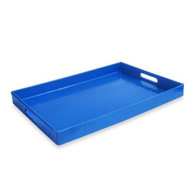 Rectangular Serving Tray in Blue