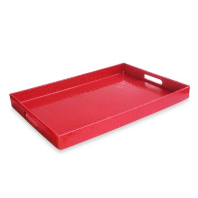 Rectangular Serving Tray in Red