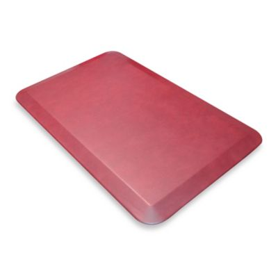 NewLife™ Designer Comfort Leather Mat in Grain Cranberry