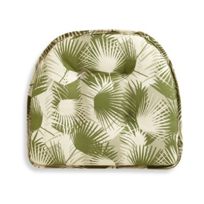 Gripper Chair Pad in Green Palm Leaf