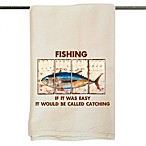 Novelty Fishing Design Flour Sack Kitchen Towel