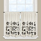 Tea Time Window Curtain Tier Pairs in Black