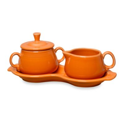 Fiesta® Sugar and Creamer Set with Tray in Tangerine
