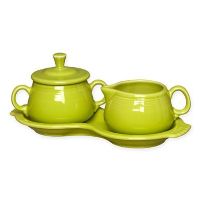 Fiesta® Sugar and Creamer Set with Tray in Lemon Grass
