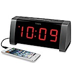 Timex® AM/FM Jumbo Display Dual Alarm Clock Radio in Black