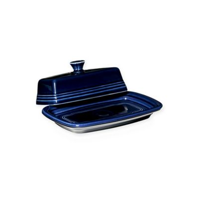 Fiesta® Extra-Large Covered Butter Dish in Cobalt Blue
