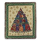 Holiday Holly Cat Tree Throw Blanket