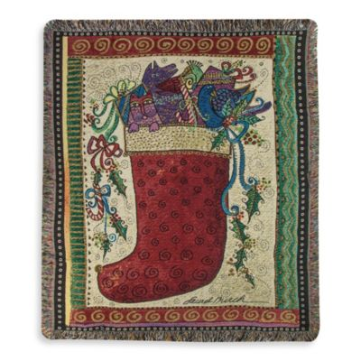 Holiday Stocking Throw Blanket