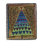 Holiday Tree of Hearts Throw Blanket