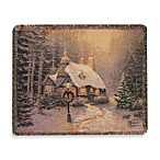 Thomas Kinkade Holiday Stoneheath Hutch Throw Blanket