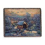 Thomas Kinkade Holiday Winter Evening Memories Throw Blanket