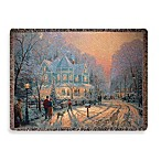 Thomas Kinkade Holiday Gathering Throw Blanket
