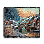 Holiday Cobblestone Christmas Throw Blanket