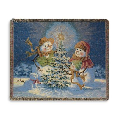 Holiday Snow Family Throw Blanket