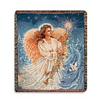 Holiday Stardust Angel Throw Blanket