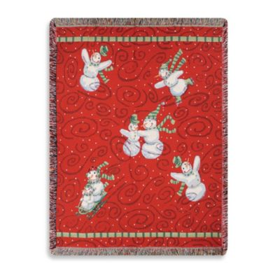 Holiday Frosty Friends Throw Blanket