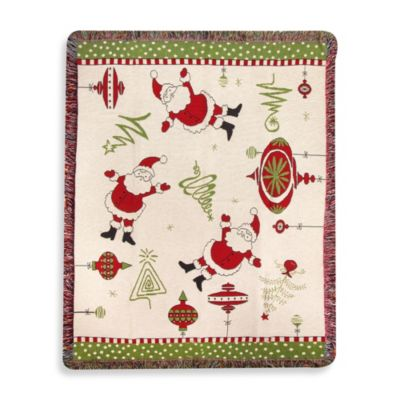 Retro Holiday Throw Blanket