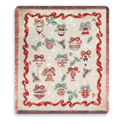 Ornamental Holiday Throw Blanket