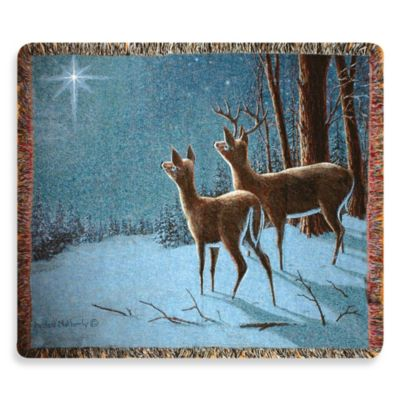 Holiday Peace on Earth Throw Blanket
