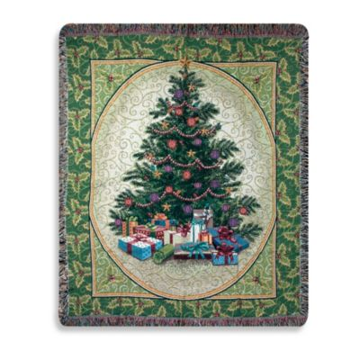 Holiday Holly Tree Throw Blanket