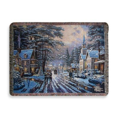 Thomas Kinkade Holiday Memories of Christmas Throw Blanket