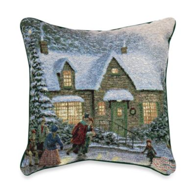 Thomas Kinkade Skater's Pond Pillow