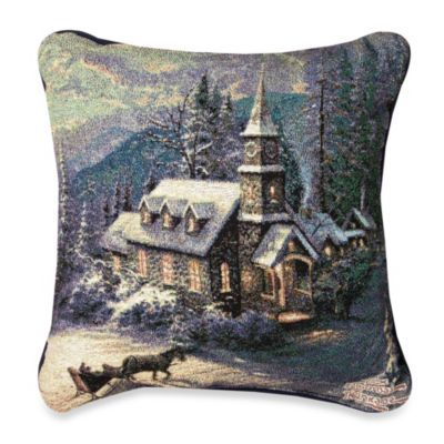 Thomas Kinkade Sleigh Ride Pillow