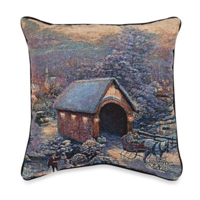 Thomas Kinkade Winter Evening Memories Pillow