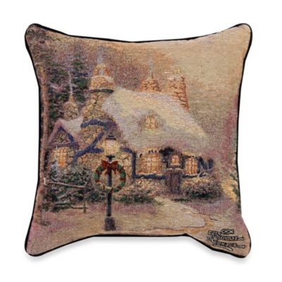 Thomas Kinkade Stonehearth Hutch Pillow