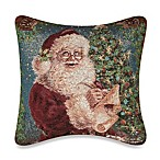 Christmas Magic 17-Inch Square Tapestry Accent Pillow